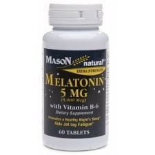 Melatonin 5mg with vitamin B6 chai 60 viên hãng Mason Natural