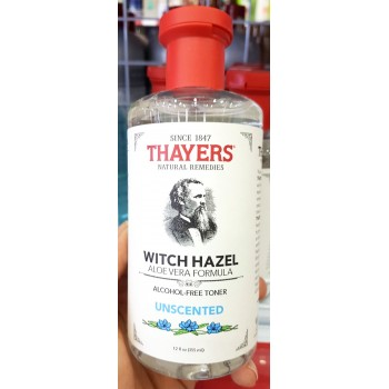 Nước Hoa Hồng Thayers Witch Hazel Alcohol Free Toner Unscented chai 355ml từ Mỹ