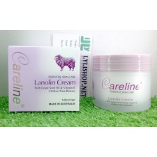 Kem Mỡ Cừu Careline Lanolin Cream with Grape Seed Oil & Vitamin E hộp 100g từ Úc